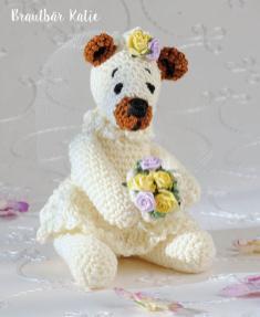 Häkelanleitung - Brautbär Katie - Mini Häkeln Vol.6 – Teddybären 01/2019