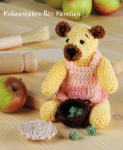Häkelanleitung - Kulinarischer Bär Karolina - Mini Häkeln Vol.6 – Teddybären 01/2019