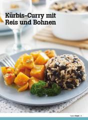 Rezept - Kuerbis-Curry mit Reis und Bohnen - Healthy Vegan Sonderheft - Vegan - 01/2019