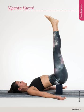 Yoga-Anleitung - Viparita Karani - Sportplaner Yoga-Guide Retreats 02/2019