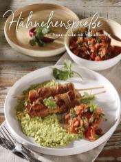 Rezept - Hähnchenspieße auf Tomatensalat mit Avocadocreme - Simply Kreativ Thermomix® Diät Special 01/2019