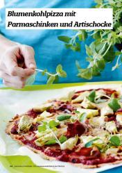Rezept - Blumenkohlpizza mit Parmaschinken und Artischocke - Simply Kochen Sonderheft Körper ohne Entzündungen 01/2019