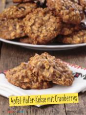 Rezept - Apfel-Hafer-Kekse mit Cranberrys - Simply Backen mit und für Kinder - mit Nina Kämpf von Mamaaempf