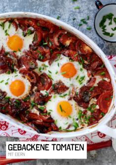Rezept - Gebackene Tomaten mit Eiern - Simply Kochen Sonderheft Paleo-Diät 01/2019