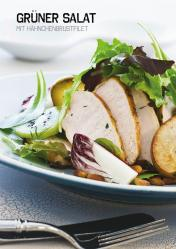 Rezept - Grüner Salat mit Hähnchenbrustfilet - Simply Kochen Sonderheft Paleo-Diät 01/2019
