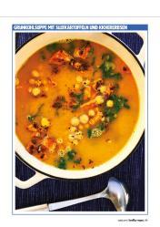 Rezept - Grünkohlsuppe mit Süßkartoffeln und Kichererbsen - Healthy Vegan 02/2019