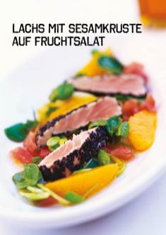 Rezept - Lachs mit Sesamkruste auf Fruchtsalat - Simply Kochen Sonderheft Paleo-Diät 01/2019