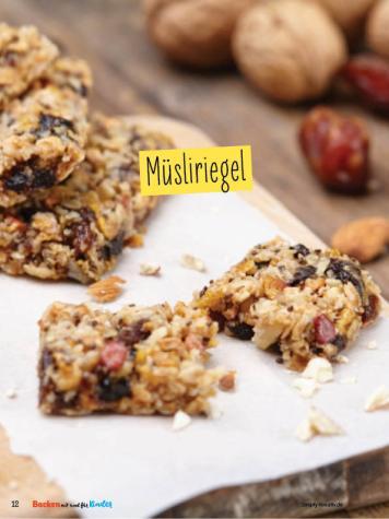 Rezept - Müsliriegel - Simply Backen mit und für Kinder - mit Nina Kämpf von Mamaaempf