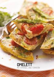 Rezept - Omelett mit Spargel und Tomaten - Simply Kochen Sonderheft Paleo-Diät 01/2019