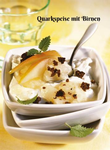 Rezept - Quarkspeise mit Birnen - Simply Kochen Sonderheft Zuckerfrei 01/2019