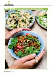 Rezept - Quinoa-Risotto mit Tomaten, Pilzen, Spinat und gerösteten Haselnüssen - Healthy Vegan 02/2019