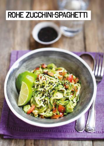 Rezept - Rohe Zucchini-Spaghetti - Simply Kochen Sonderheft Paleo-Diät 01/2019