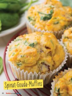 Rezept - Spinat-Gouda-Muffins - Simply Backen mit und für Kinder - mit Nina Kämpf von Mamaaempf
