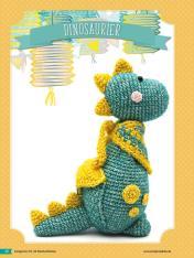 Häkelanleitung - Dinosaurier - Fantastische Häkelideen Geschenkboten Amigurumi Vol. 22