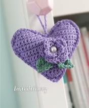Häkelanleitung - Lavendelherz - Mini Häkeln Vol.7 – Herzen 02/2019
