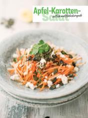 Rezept - Apfel-Karotten-Salat mit Feta und Kürbiskernpesto - Simply Kochen Sonderheft - Frühlingssalate