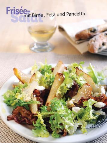 Rezept - Frisée-Salat mit Birne, Feta und Pancetta - Simply Kochen Sonderheft - Frühlingssalate