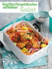 Rezept - Gegrilltes Mangohähnchen auf Rohkost-Salat - Simply Kochen Sonderheft - Frühlingssalate