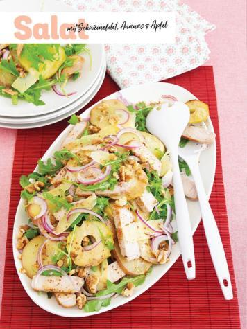 Rezept - Salat mit Schweinefilet, Ananas und Apfel - Simply Kochen Sonderheft - Frühlingssalate