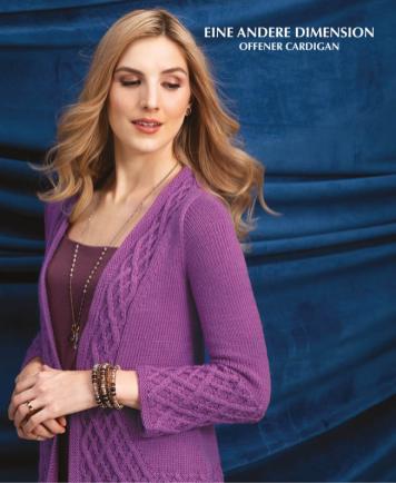 Strickanleitung - Eine andere Dimension - Offener Cardigan - Designer Knitting 02/2019