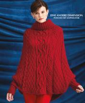 Strickanleitung - Eine andere Dimension - Poncho mit Zopfmuster - Designer Knitting 02/2019