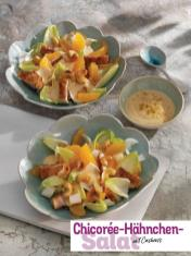 Rezept - Chicoree-Hähnchen-Salat mit Cashews - Simply Kochen Sonderheft - Frühlingssalate