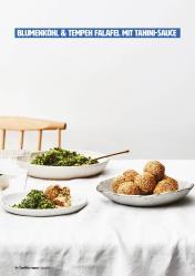Rezept - Blumenkohl & Tempeh-Falafel mit Tahini-Sauce - Healthy Vegan 04/2019