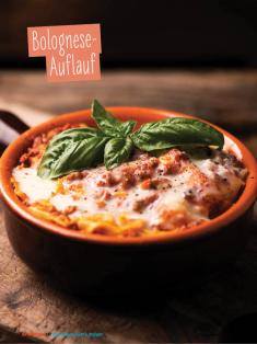 Rezept - Bolognese-Auflauf - Simply Kochen Sonderheft - Ernährung in der Schwangerschaft - mit Nina Kämpf von Mamaaempf