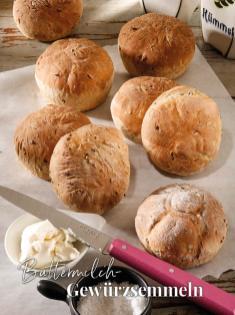 Rezept - Buttermilch-Gewürzsemmeln - Simply Backen Sonderheft – Brote und Brötchen mit dem Thermomix® 02/2019