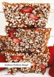Rezept - Erdbeer-Puffreis-Riegel - Healthy Vegan 04/2019