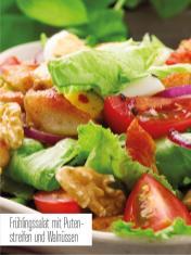 Rezept - Frühlingssalat mit Putenstreifen und Walnüssen - Bewusst Low Carb