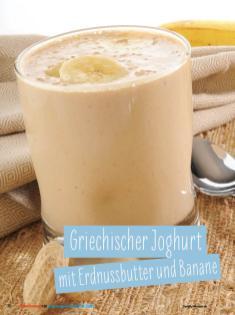 Rezept - Griechischer Joghurt mit Erdnussbutter und Banane - Simply Kochen Sonderheft - Ernährung in der Schwangerschaft - mit Nina Kämpf von Mamaaempf