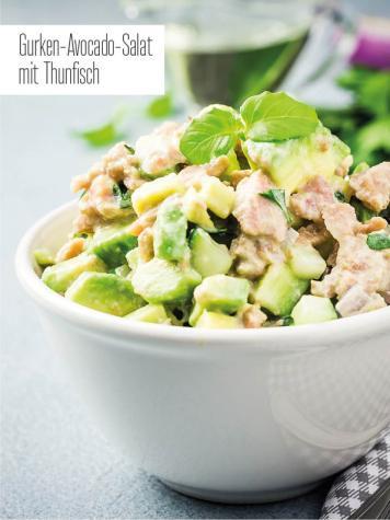 Rezept - Gurken-Avocado-Salat mit Thunfisch - Bewusst Low Carb