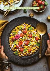 Rezept - Ingwer-Kurkuma-Kichererbsen mit Kirschtomaten - Healthy Vegan 03/2019