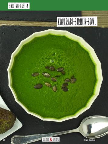 Rezept - Kohlrabi-Birnen-Bowl - Simply Kochen Sonderheft Basenfasten mit Andrea Sokol