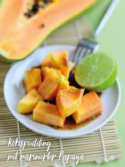 Rezept - Kokospudding mit marinierter Papaya - Bewusst Low Carb Sonderheft Keto