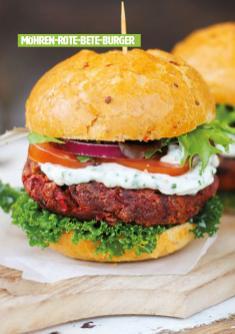 Rezept - Möhren-Rote-Bete-Burger - Healthy Vegan 03/2019