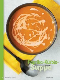 Rezept - Paprika-Kürbis-Suppe mit Harissa - Simply Kochen Sonderheft - Suppen und Eintöpfe - 01/2019