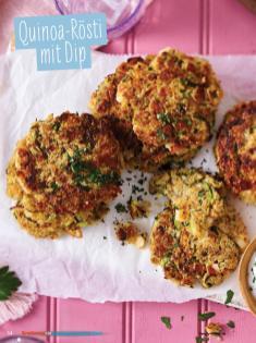 Rezept - Quinoa-Rösti mit Dip - Simply Kochen Sonderheft - Ernährung in der Schwangerschaft - mit Nina Kämpf von Mamaaempf