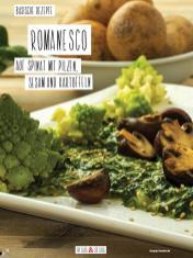 Rezept - Romanesco auf Spinat mit Pilzen, Sesam und Kartoffeln - Simply Kochen Sonderheft Basenfasten mit Andrea Sokol