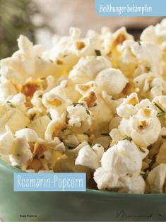 Rezept - Rosmarin-Popcorn - Simply Kochen Sonderheft - Ernährung in der Schwangerschaft - mit Nina Kämpf von Mamaaempf