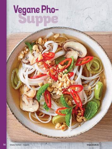 Rezept - Vegane Pho-Suppe - Simply Kochen Sonderheft - Suppen und Eintöpfe - 01/2019