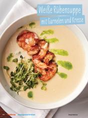 Rezept - Weiße Rübensuppe mit Garnelen und Kresse - Simply Kochen Sonderheft - Ernährung in der Schwangerschaft - mit Nina Kämpf von Mamaaempf