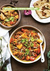 Rezept - Würziges Erbsen-Kartoffel-Paprika-Curry - Healthy Vegan 03/2019