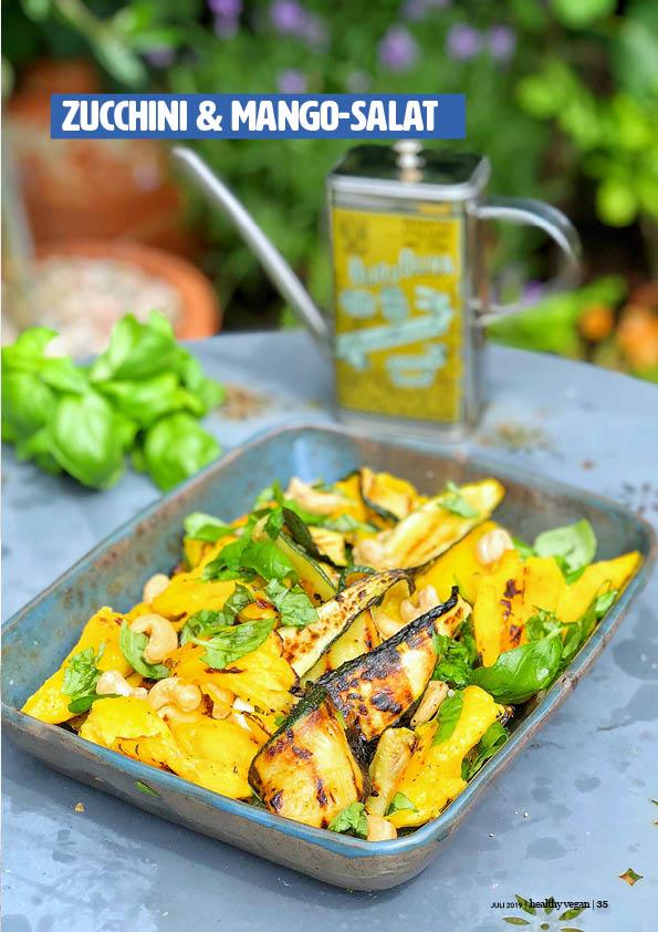 Rezept - Zucchini-Mango-Salat - Healthy Vegan 04/2019