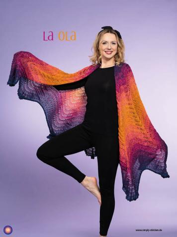 Strickanleitung - La Ola - Simply Kreativ – Stricken mit Verlaufs-Bobbeln 02/2019