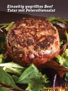 Rezept - Einseitig gegrilltes Beef-Tatar mit Petersiliensalat - Simply Kochen Sonderheft Besser Grillen mit den Grillweltmeisten