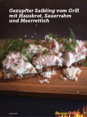 Rezept - Gezupfter Saibling vom Grill mit Hausbrot-Sauerrahm und Meerrettich - Simply Kochen Sonderheft Besser Grillen mit den Grillweltmeisten