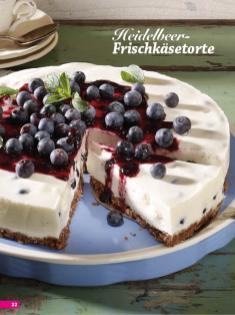 Rezept - Heidelbeer-Frischkäsetorte - Simply Backen Sonderheft Kühlschranktorten ohne Backen