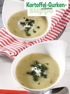 Rezept - Kartoffel-Gurken-Suppe mit Bärlauch - Simply Kochen Sonderheft So schmeckt der Frühling
